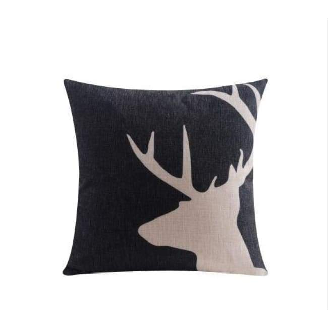 Nordic Cushion Covers - Reindeer 2 - 45X45 Cm (18X18 Inches)