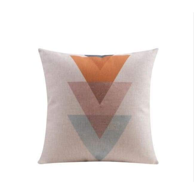 Nordic Cushion Covers - Triangles - 45X45 Cm (18X18 Inches)