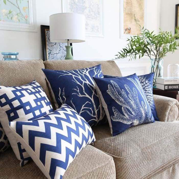 Ocean Blue Cushion Covers