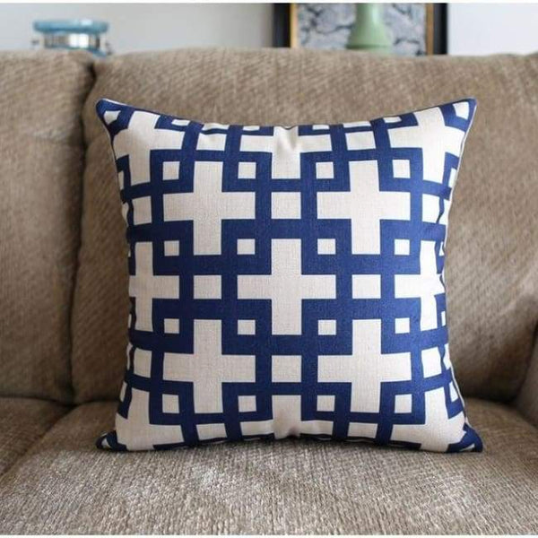 Ocean Blue Cushion Covers - Squares - 45X45 Cm (18X18 Inches)