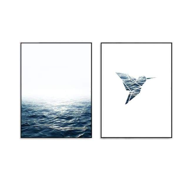 Ocean In The Bird - 20X25Cm (8X10 Inches) / 2 Piece Set