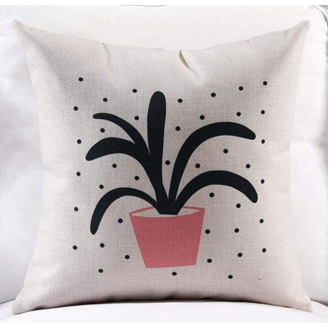 Pink Loving Plants Cushion Covers - Fern / 45X45 Cm (18X18 Inches)