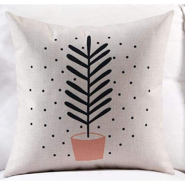 Pink Loving Plants Cushion Covers - Plant / 45X45 Cm (18X18 Inches)