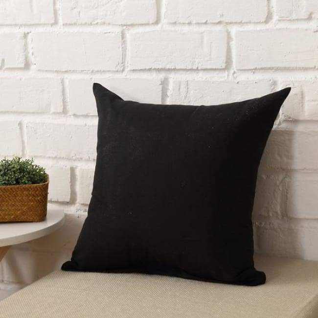 Plainly Coloured Cushion Covers - Black / 40X40 Cm (16X16 Inches)