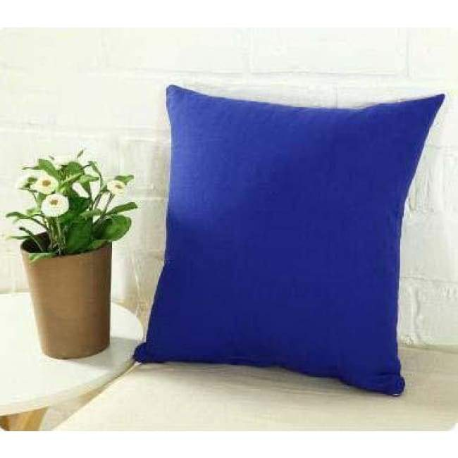 Plainly Coloured Cushion Covers - Blue / 40X40 Cm (16X16 Inches)