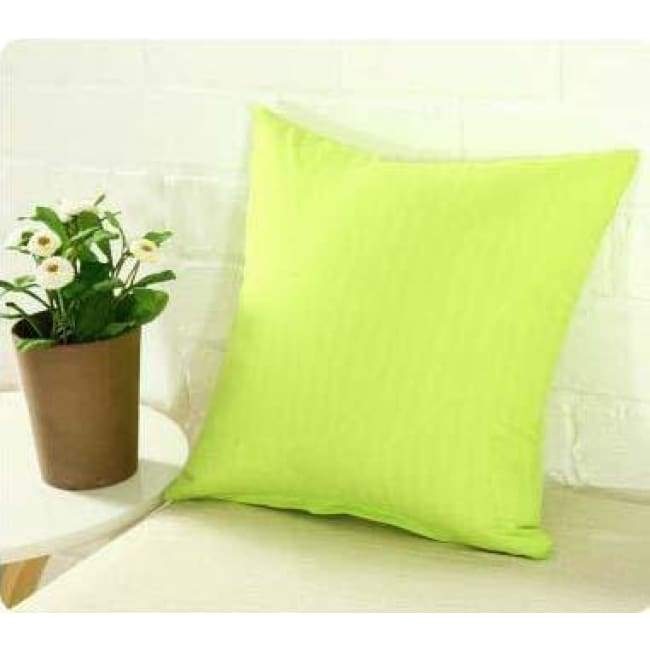 Plainly Coloured Cushion Covers - Lime / 40X40 Cm (16X16 Inches)