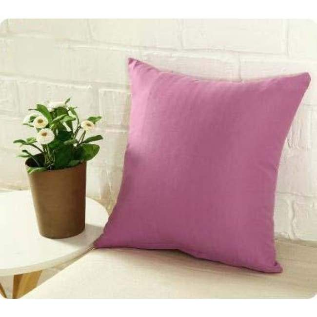 Plainly Coloured Cushion Covers - Nude Pink / 40X40 Cm (16X16 Inches)