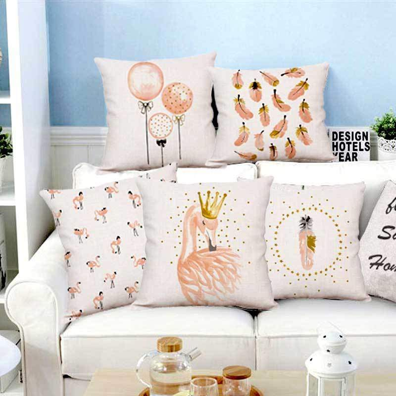 Plush Pink Cushion Covers