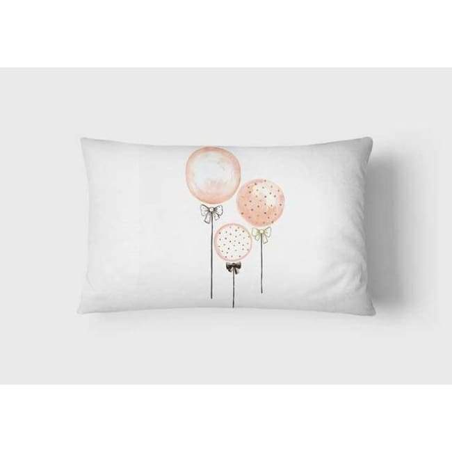 Plush Pink Cushion Covers - Balloons - Landscape / 30X50Cm (12X20 Inches)