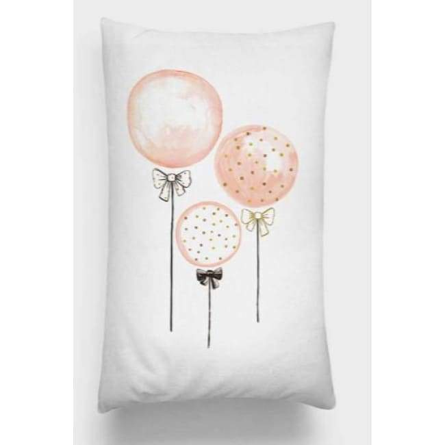 Plush Pink Cushion Covers - Balloons - Portrait / 30X50Cm (12X20 Inches)