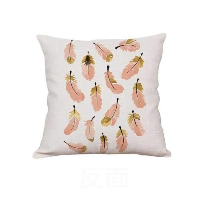 Plush Pink Cushion Covers - Pink Feathers / 40X40 Cm (16X16 Inches)