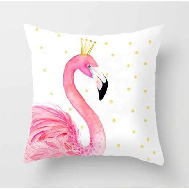 Plush Pink Cushion Covers - Left Flamingo / 40X40 Cm (16X16 Inches)