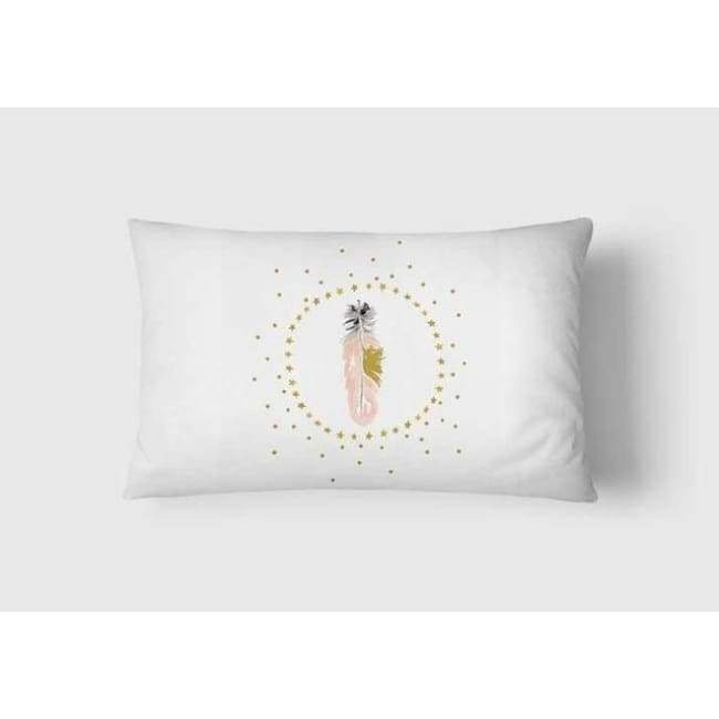 Plush Pink Cushion Covers - Starry Feather / 30X50Cm (12X20 Inches)