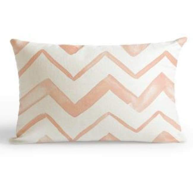 Plush Pink Cushion Covers - Pink Waves / 30X50Cm (12X20 Inches)