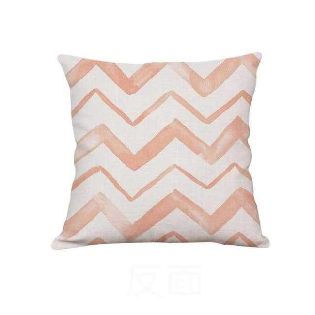 Plush Pink Cushion Covers - Pink Waves / 40X40 Cm (16X16 Inches)