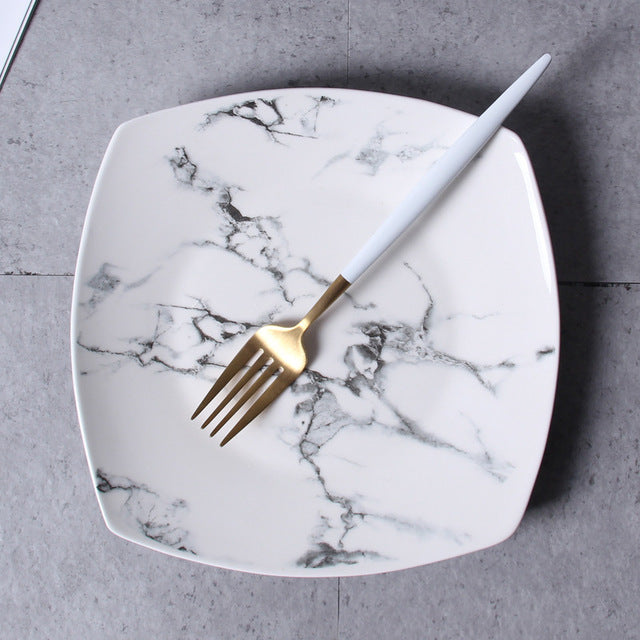 Marble Tea & Dining Set