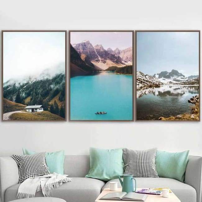 Scenic Mountains - 20X30 Cm (8X12 Inches) / 3 Piece Set