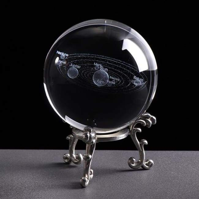 Space in a Ball - 6 CM / Crystal Ball with Silver Base