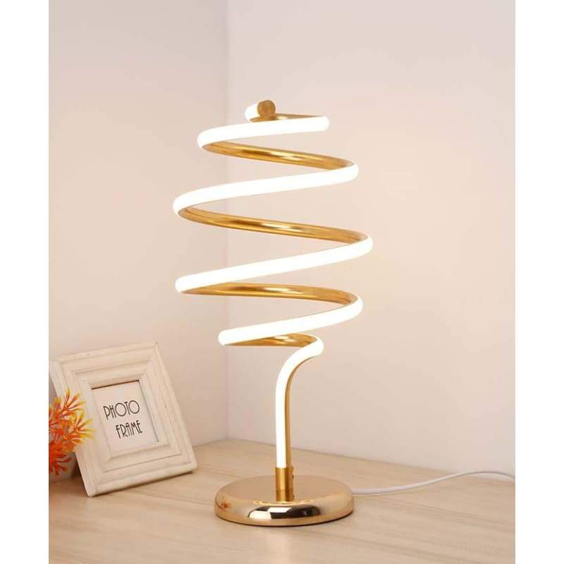 Spinning Perfectly - Gold / Cool White - Decor Lights