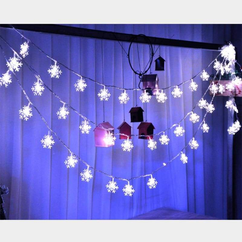 Strings Of Snowflakes - Blue / 5 Metres (2 Ft)