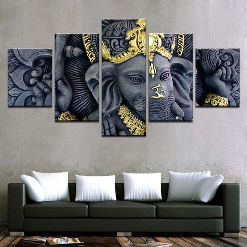 The Hindu God Statue: Ganesh - Canvases