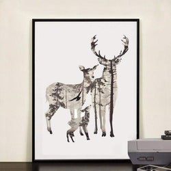 To My Deer Family - 20X25Cm (8X10 Inches) / Deer Family 1 - Prints