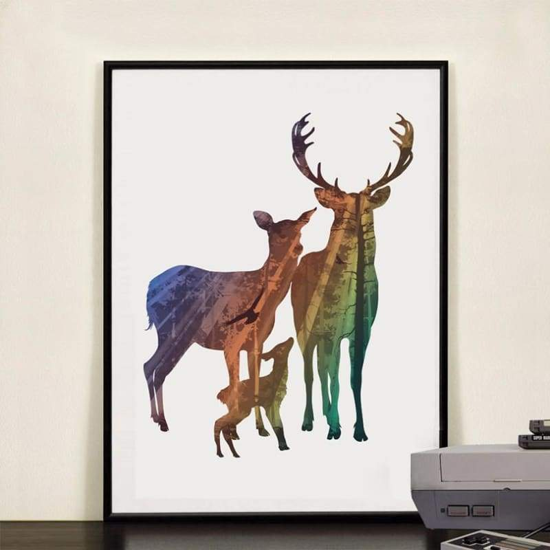 To My Deer Family - 20X25Cm (8X10 Inches) / Deer Family 3 - Prints