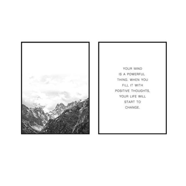 Your Mind Is Powerful - 20X25Cm (8X10 Inches) / 2 Piece Set - Prints