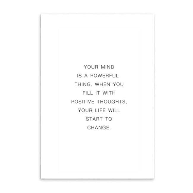 Your Mind Is Powerful - 20X25Cm (8X10 Inches) / Quote - Prints
