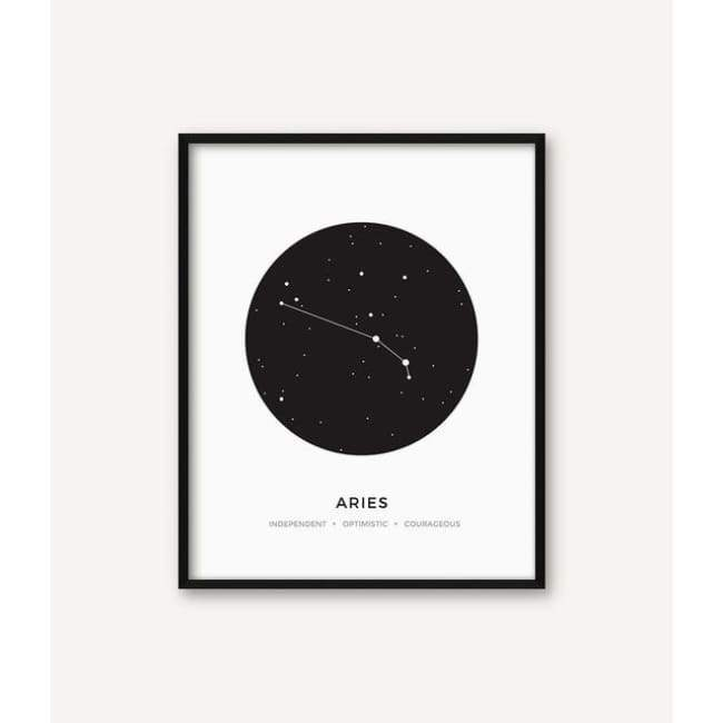 Zodiac Constellation Collection - 20X30 Cm (8X12 Inches) / Aries - Prints