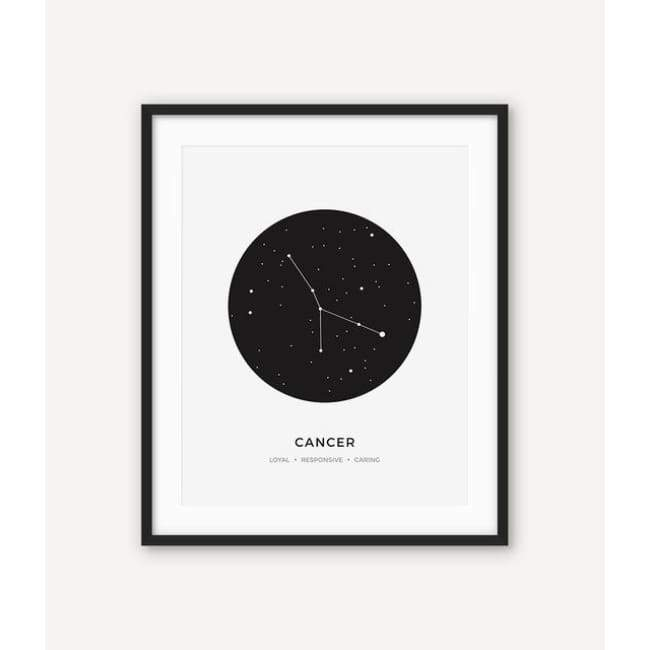 Zodiac Constellation Collection - 20X30 Cm (8X12 Inches) / Cancer - Prints