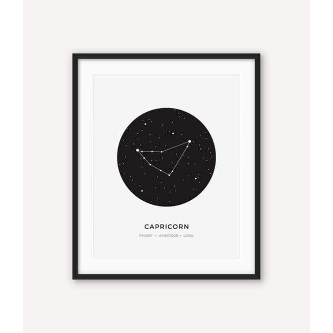 Zodiac Constellation Collection - 20X30 Cm (8X12 Inches) / Capricorn - Prints