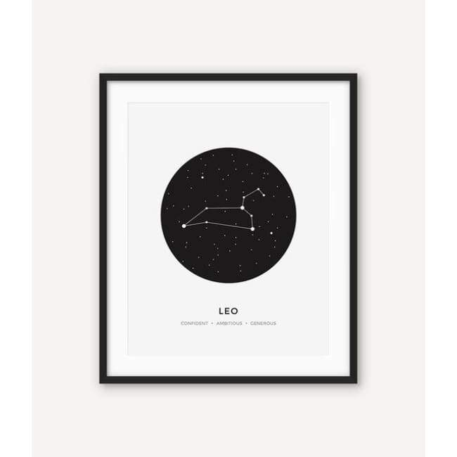 Zodiac Constellation Collection - 20X30 Cm (8X12 Inches) / Leo - Prints