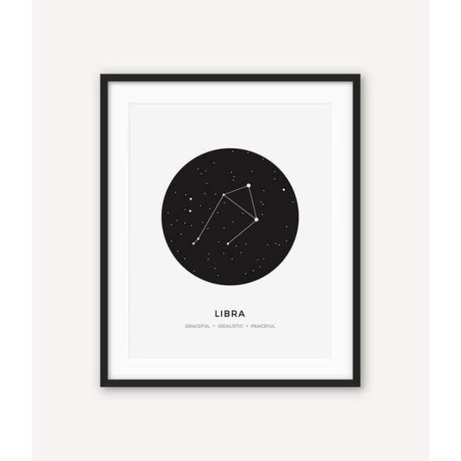 Zodiac Constellation Collection - 20X30 Cm (8X12 Inches) / Libra - Prints