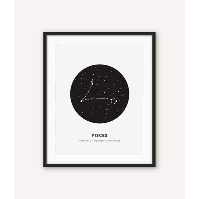 Zodiac Constellation Collection - 20X30 Cm (8X12 Inches) / Pisces - Prints