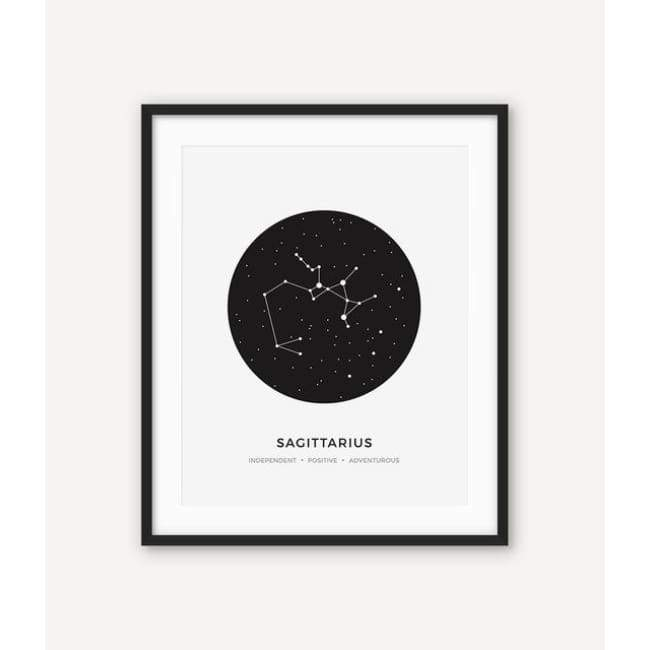 Zodiac Constellation Collection - 20X30 Cm (8X12 Inches) / Sagittarius - Prints
