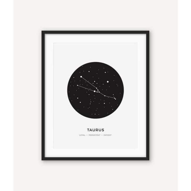 Zodiac Constellation Collection - 20X30 Cm (8X12 Inches) / Taurus - Prints