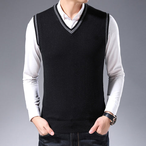 Spring and Autumn Tide new fashion casual youth sweater men's sweater sleeveless men's wool vest