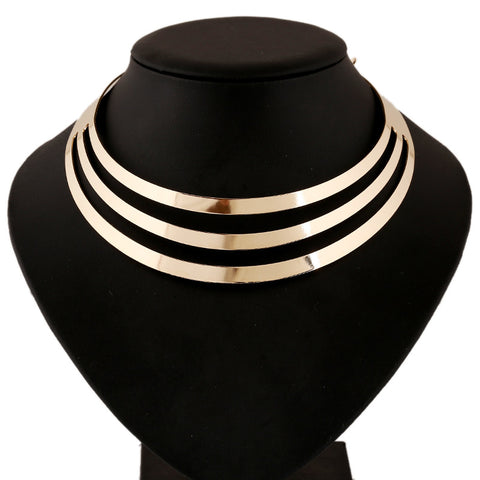 Women's jewelry creative multi-layer exaggerated neck necklace