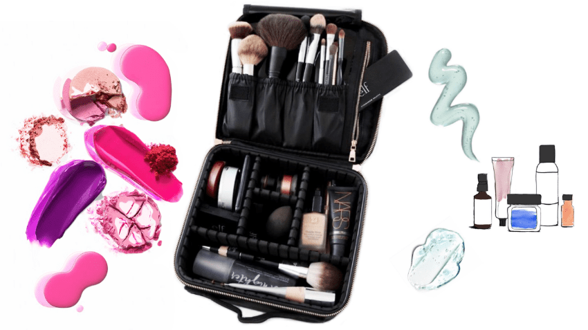 Trousse de maquillage à compartiments