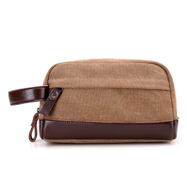 Trousse de toilette homme simili cuir marron - Ma Trousse De Toilette