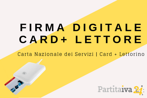 Firma Digitale - CNS - smart card + lettorino