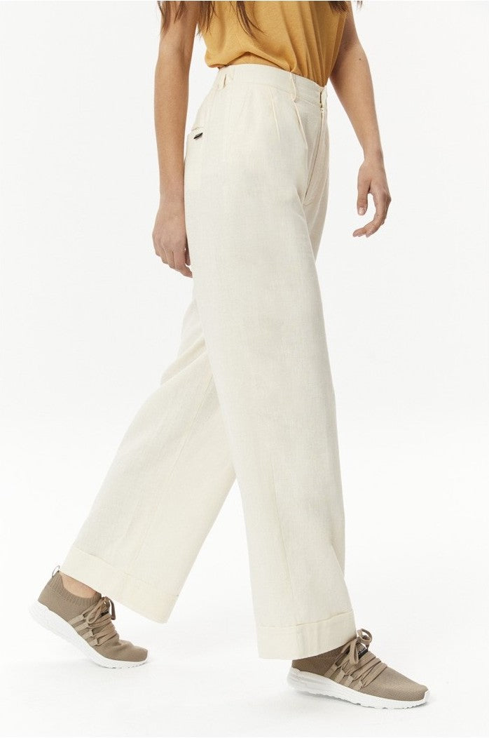 sustainable WIDE TROUSERS WITH PLEATS hemp Ecoalf