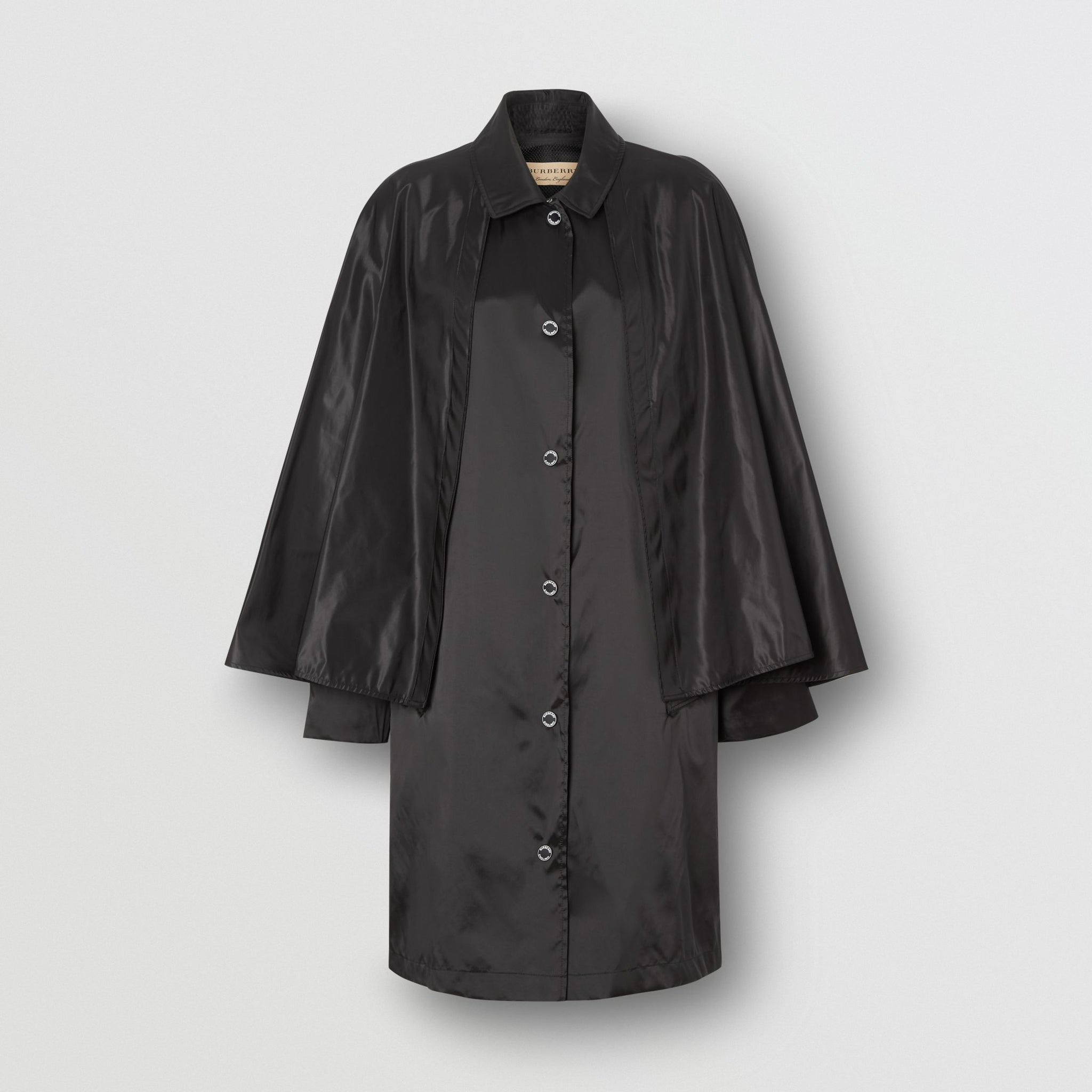 Burberry Cape Detail ECONYL® Belted Coat