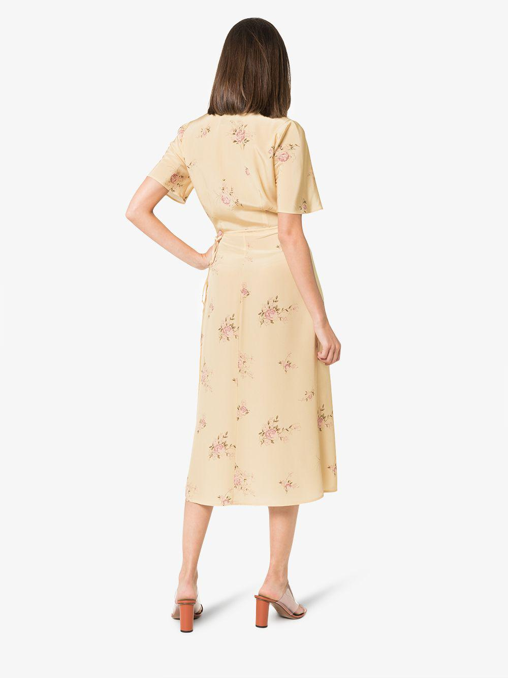Sustainable dresses for summer 2019: Reformation Jensen Short Sleeve Silk Dress
