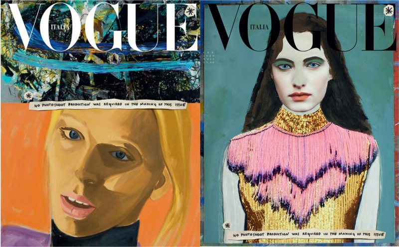 The New Issue of Italian 'Vogue' Has Replaced Glossy Fashion Shoots With Illustrations, In Move Towards Sustainability