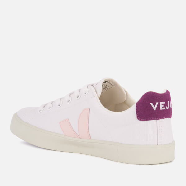 Veja Women's Esplar SE Canvas Low Top Trainers - White/Petale/Berry