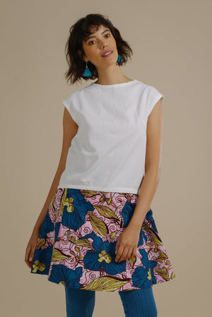 Polly Flare Panelled Skirt in Enchanted Garden