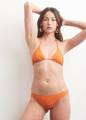 Base Bikini Top in Burnt Orange