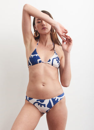 Base Bikini Top in Blue Mood